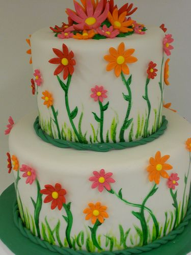 Spring Birthday cake (1060) | Flickr - Photo Sharing!