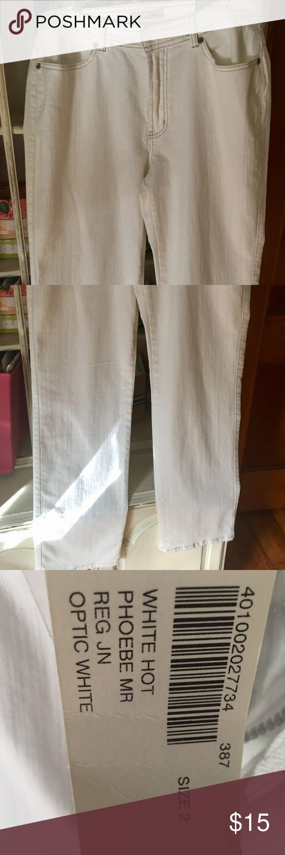 NWT chicos jeans NWT white chicos jeans. They are a size 2 in chicos size guides which is a size 12 in normal sizing. Super cute and right for summer Chico's Jeans