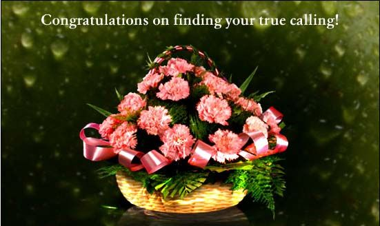 congratulation flowers for your favourites who have found their true calling :)