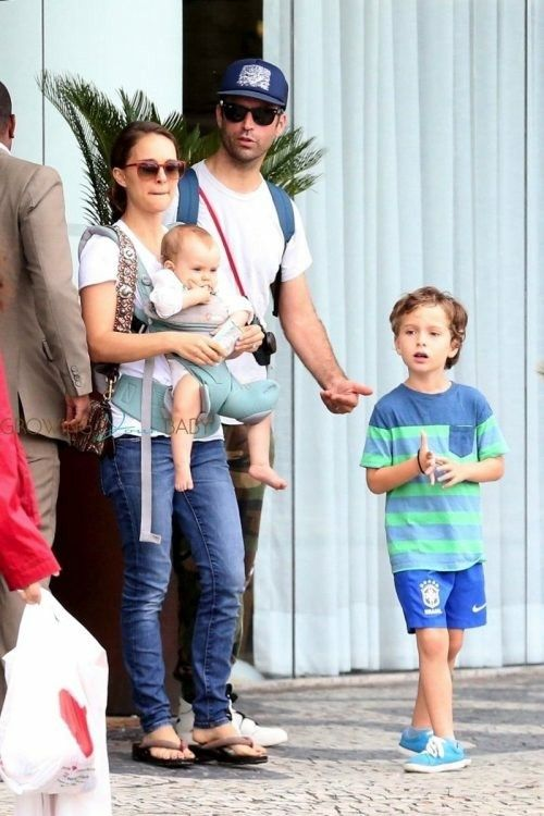 Natalie Portman and her husband Benjamin Millepied with ... натали портман