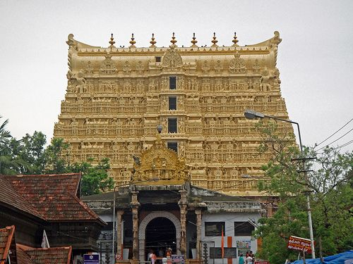 Wealth. Padmanabhaswamy temple, Thiruvanathapuram, Kerala, India. The wealthiest temple in the world. Contains 6 vaults. An inventory in 2012 showed 5 vaults with total assets worth $19 billion. The 6th and largest vault has not been opened since 1931 but from the inventory made then the assets in there are worth about $1 trillion today as raw gold/gems, not including the cultural worth of the items. <:((((><(