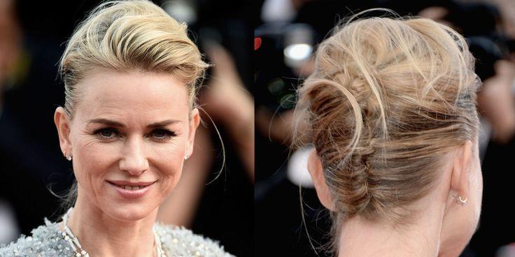 NAOMI WATTS Se hai deciso di tagliare i capelli, prova la lunghezza media che ti consente come l'attrice di raccoglierli in modo semplice ma raffinato. -cosmopolitan.it