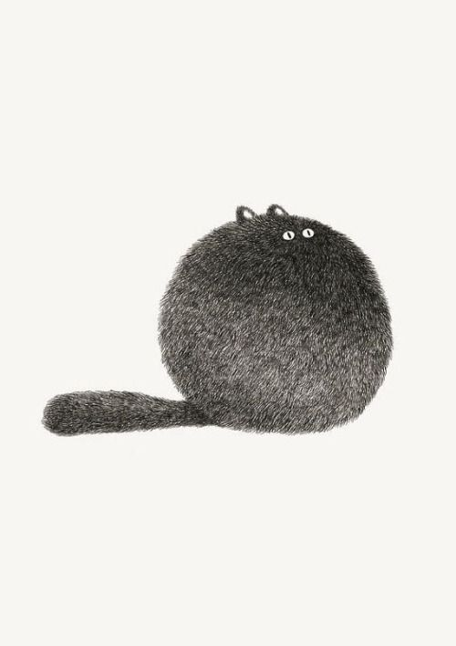 MUST DRAW THIS! Big puff ball with eyes, ears and a long fluffy tail
