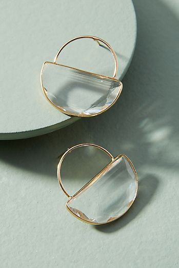 Great Cadence Hooped Post Earrings #DesignerJewellery
