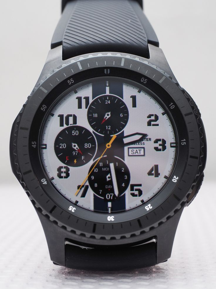 Samsung Gear S3 Frontier front view. Face: Timeless by Pluto in 2020 | Uhren