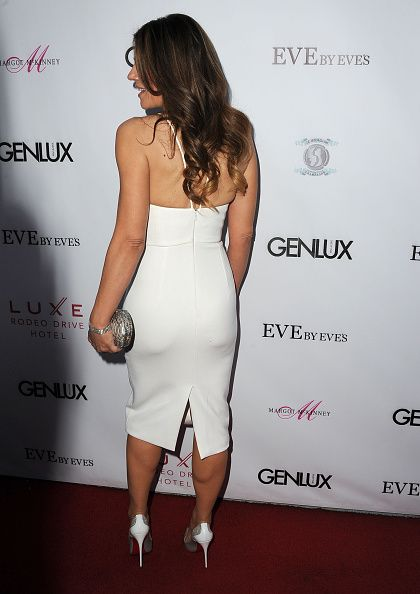 Elizabeth Hurley arrives at the Cover Girl Elizabeth Hurley & Genlux Magazine Hosts Issue Release Party at Eve by Eves on March 12, 2015 in Beverly Hills, California