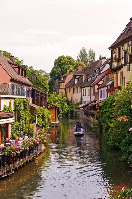 The Little Venice - Colmar France. So called because of a beautiful canal and houses surrounding it just like Venice, Italy