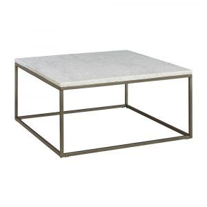 Metal Coffee Table With Marble Top