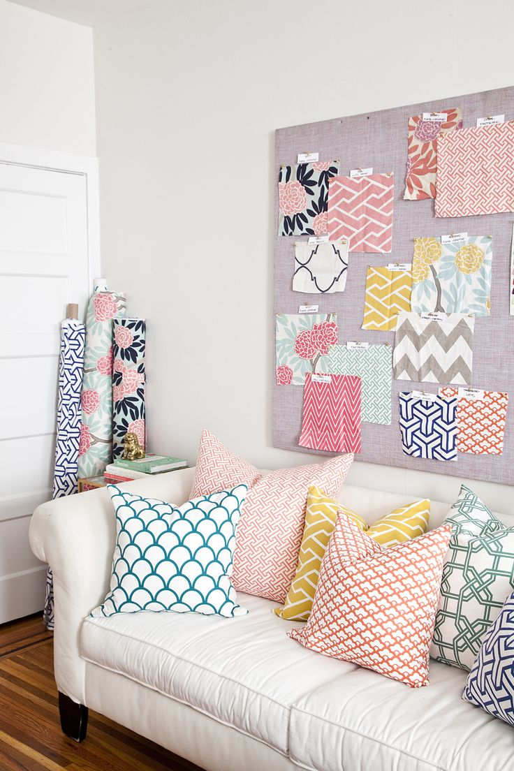 pillows/ mixing patterns: Office, Idea, Pattern, Color, Wilson Design, Caitlin Wilson, Fabric, Room