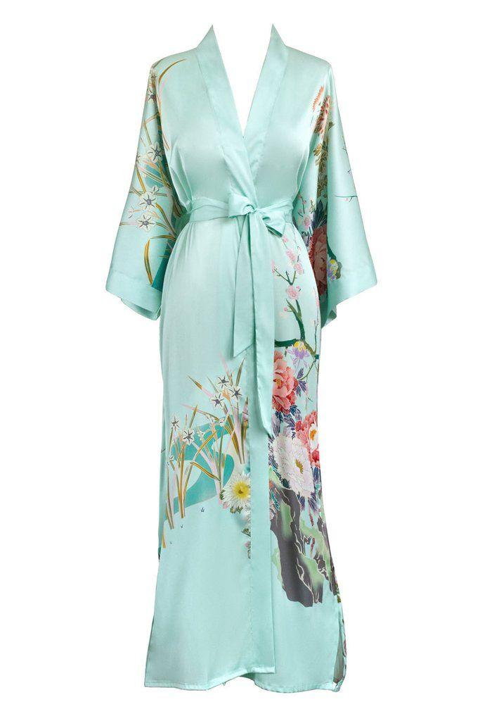 e5f4aa9345 KIM + ONO Spring Floral Long Kimono Robe