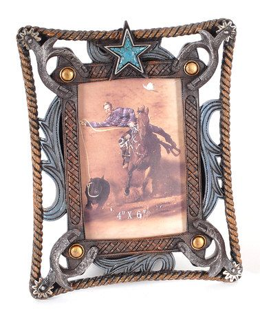 Take a look at this Aqua Star Western Picture Frame by Lynn Roberts International on #zulily today!