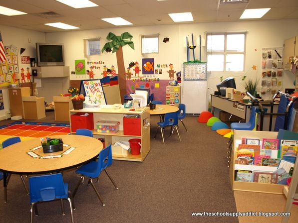 just from a photo you can tell this is a nice arranged classroom each center has their own divided area instead of one big open space - Classroom Design Ideas