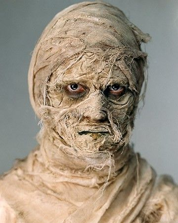 Get all wrapped up in your Halloween costume this year by applying paper towels dipped in cold coffee to a face dusted with flour, corn syrup, and brown cream makeup.