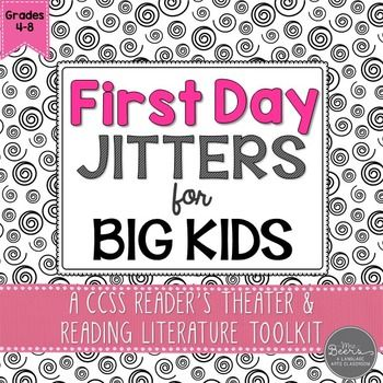 First Day Jitters?  If you love the back to school book First Day Jitters by Julie Danneberg, your students will love performing the reader's theater script even more.  Based on the events from the silly picture book, I have created a reader's theater and reading literature toolkit that BIG KIDS will love to perform in those first days of school.This First Day Jitters for BIG KIDS resource includes: 2-page 4-character reader's theater script context clue word work reader response questions…