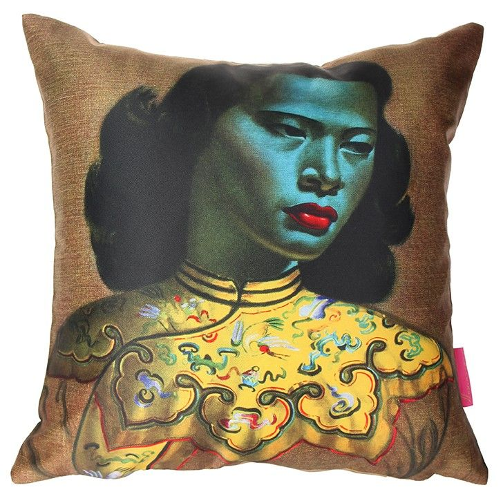 TRETCHIKOFF   Chinese Girl Cushion Cover - #pillow #cushion #homedecor