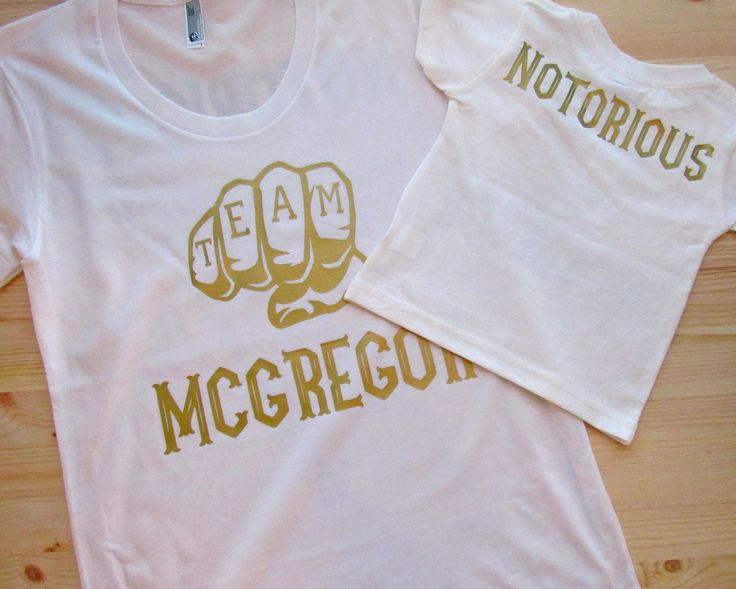Team McGregor/ Mommy & me tees/ Conor McGregor shirts by dirtroadavenue on Etsy