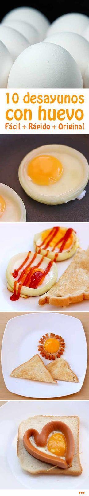 10 desayunos con huevo. Fácil. Rápido. Original. #desayuno #huevo #recetas #rapido #original #video