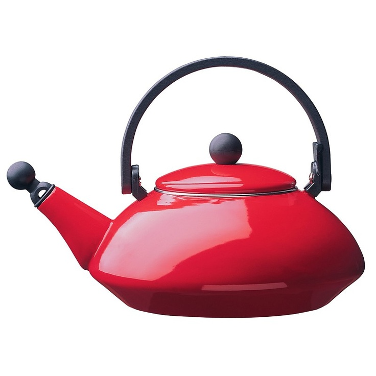 Bright Red Teakettle By Le Creuset Matches My Kitchen Aid Mixer