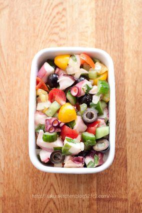 『タコとカラフルトマトのマリネサラダ』|レシピブログ
