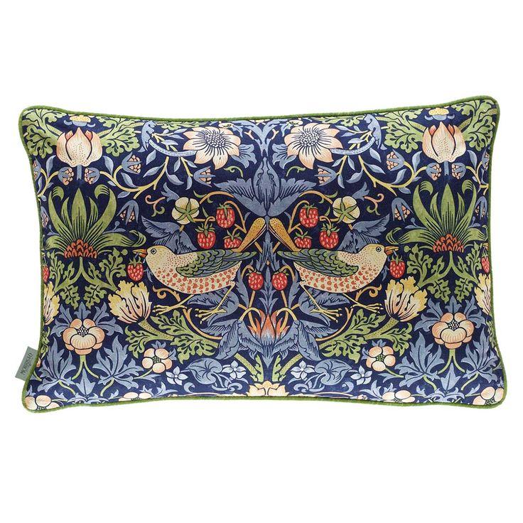 Morris & Co. Cushions - Filled Cushion Strawberry Thief Indigo/mineral 40 X 60
