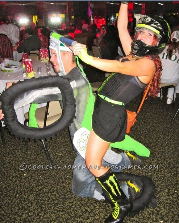 Awesome Motocross Couple Costume ... This website is the Pinterest of costumes [lol thats awsome]