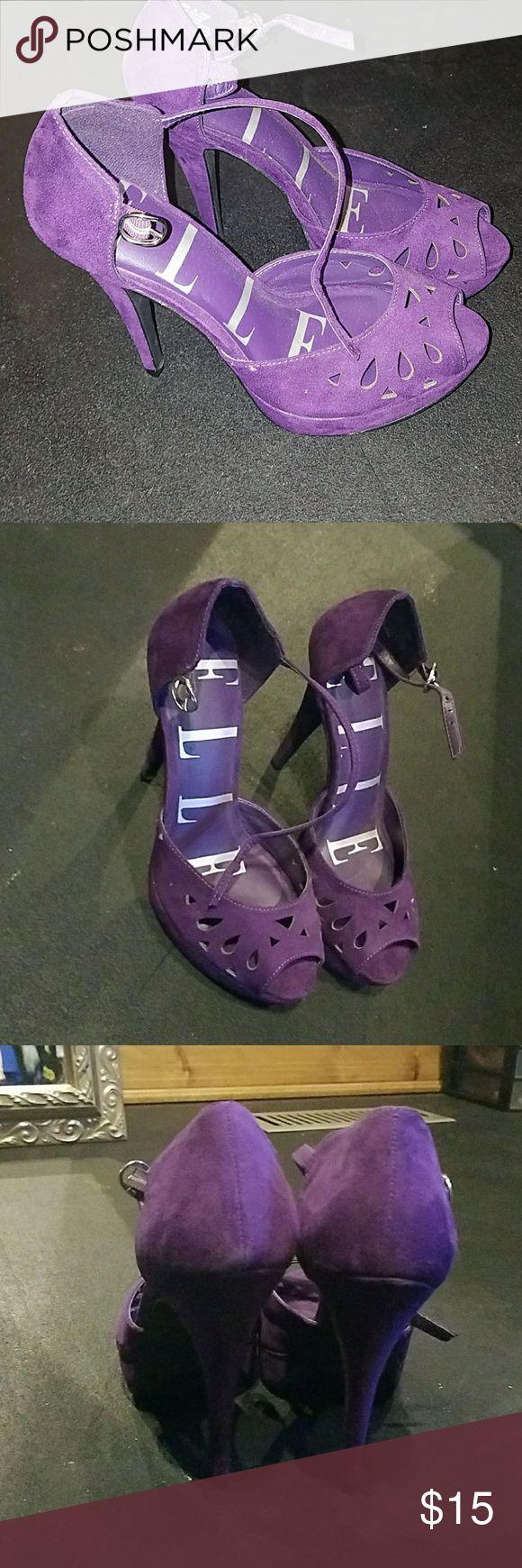 Heels Purple stilettos Elle Shoes Heels