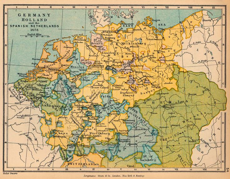 Germany, Holland and the Spanish Netherlands in 1678