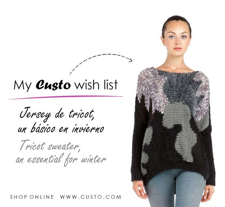 ¡Pide un deseo y consigue este jersey! Make a wish and get this sweater!   Shop custo.com