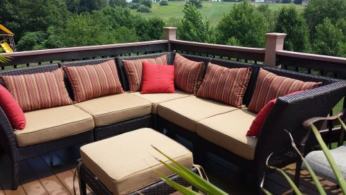 Customer Photo Relaxing Outdoor Seating Ottoman And Seat