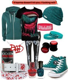 indie scene outfits for school - Google Search