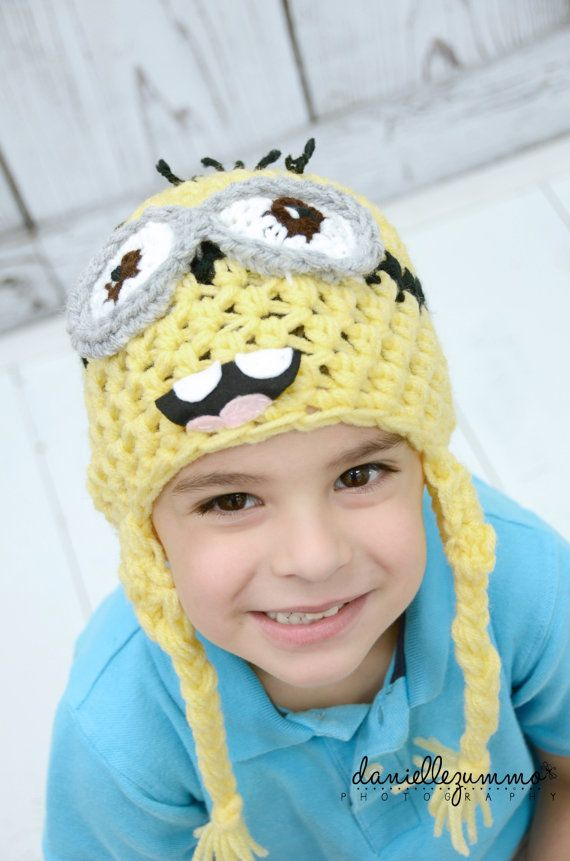 DESPICABLE ME MINION hat baby newborn adult by BellaMariesboutique
