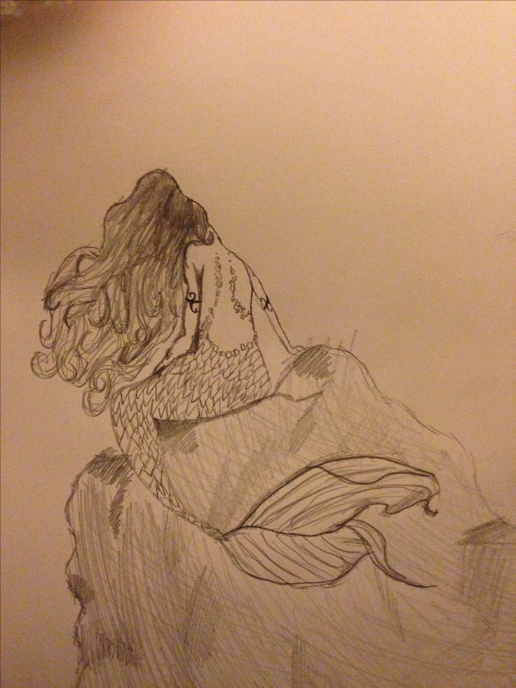 My drawing of a mermaid