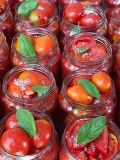 conserve de tomates cerise pour l'hiver