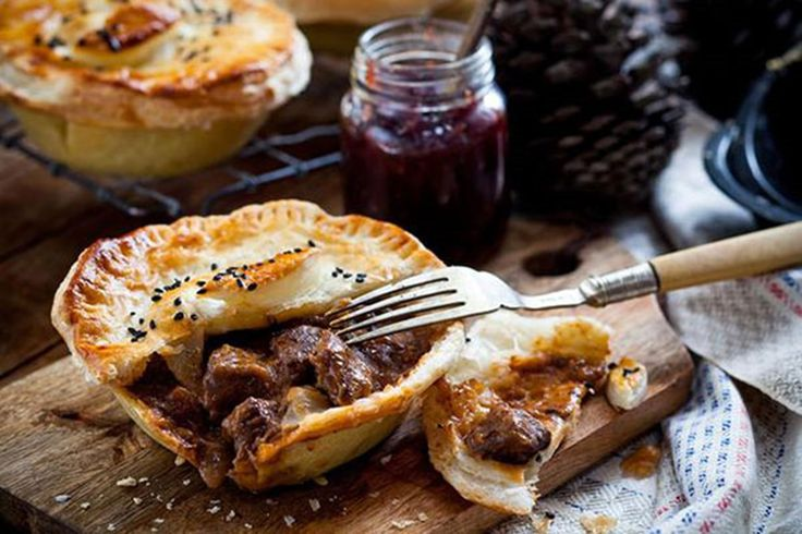 Venison makes a pleasant change from the traditional steak pie. Cooked long and slow until it is tender, this lean meat is full of flavour. Serve with your favourite chutney or cranberry sauce if you have some left over from Christmas, and a salad or hot vegetables on the side.
