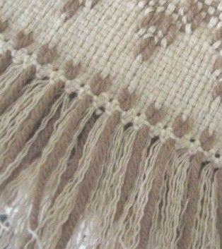 Closeup of Italian hem stitch.