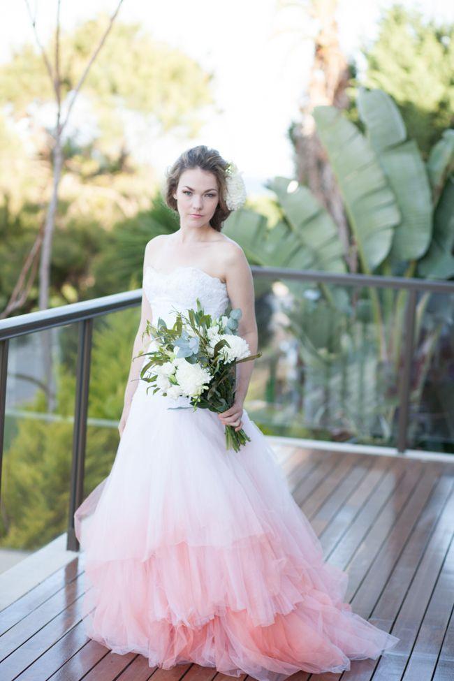 Pastel ombre wedding dress | SouthBound Bride www.southboundbride.com | Credit: Davene Prinsloo