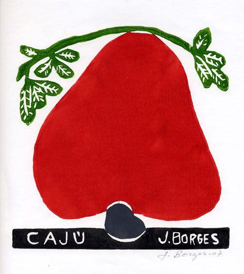 Caju - José Francisco Borges (Brazil), Woodcut print on paper (7 1/2 x 7 1/4), 2007, 2009