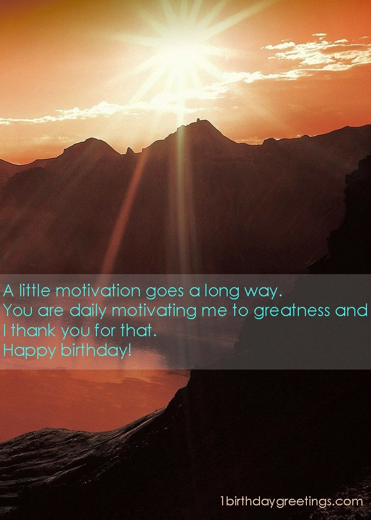 Birthday message for boss