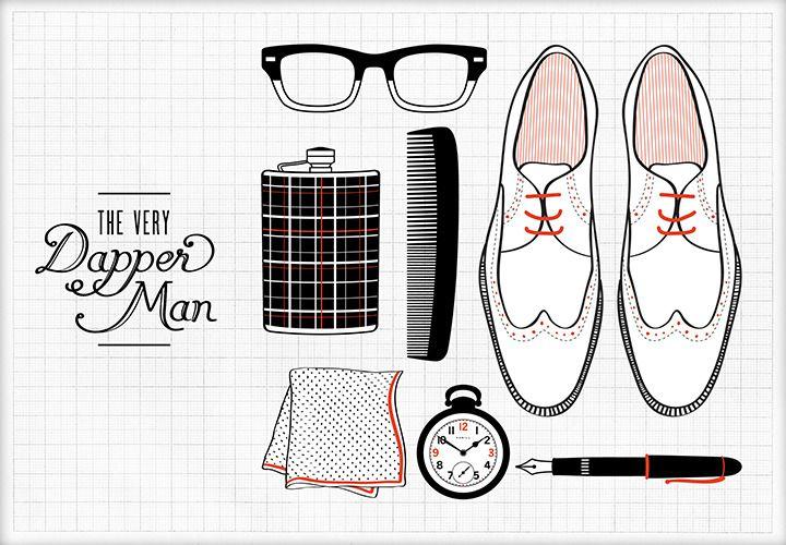 Dapper Man / Elaine Fong #design