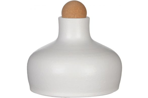 Trendhopper ● Deze bijzondere vorm fles van aardewerk en kurk is een aanwinst voor een rustig stilleven op je tafel.