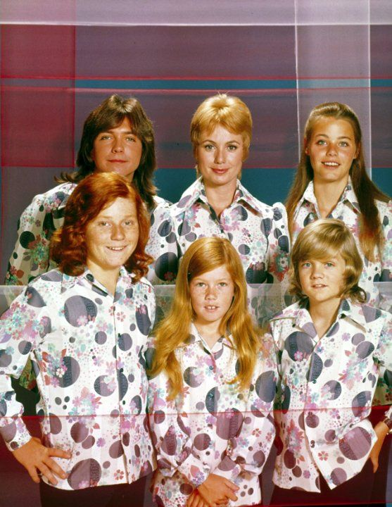 "Still of David Cassidy, Shirley Jones, Susan Dey, Danny Bonaduce, Suzanne Crough, and Brian Forster and  in the TV series ""The Partridge Family"" (1970)"