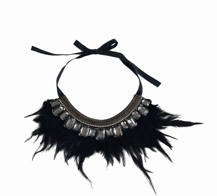 www.ties-heels.com #tiesheels #shop #shoponline #necklace #feather #new #newcollection #nuevo #instamoda #instafashion #instagood #tienda #trendy #moda  #soon #black