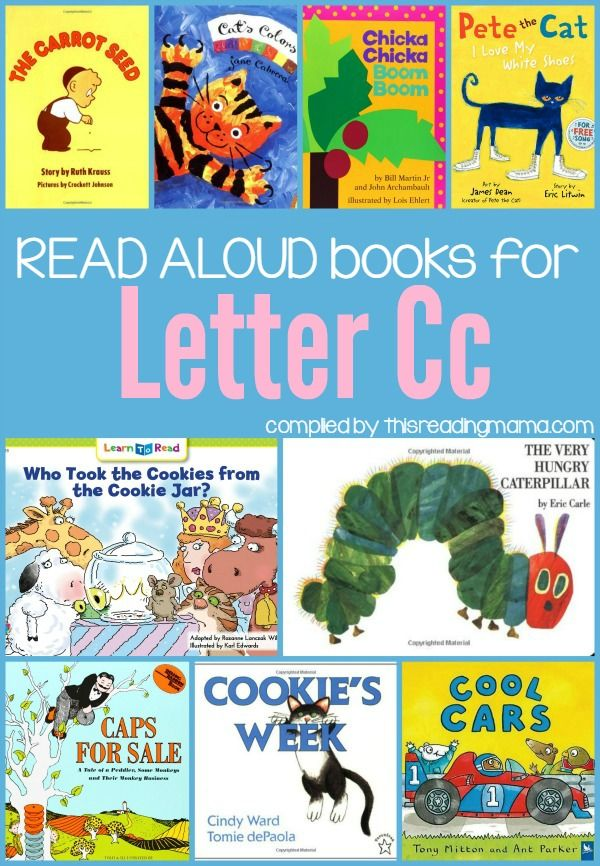 Read Alouds for the Letter C - Letter C Books ~ includes books about colors, letters, the days of the week, and counting! | This Reading Mama