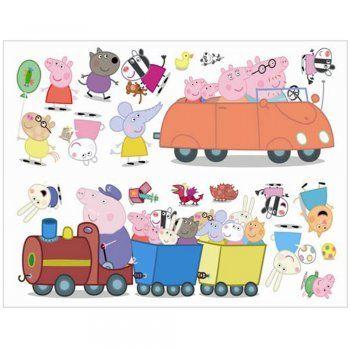 Fun4Walls Peppa Pig Wall Stickers Stikarounds - Fun4Walls from I love wallpaper UK