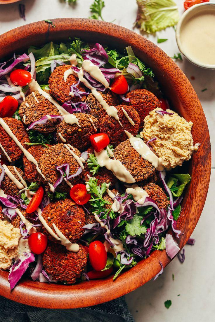 DELICIOUS Black Bean Quinoa Falafel! 10 wholesome ingredients, BIG flavor, so satisfying #vegan #glutenfree #falafel #plantbased #recipe #minimalistbaker