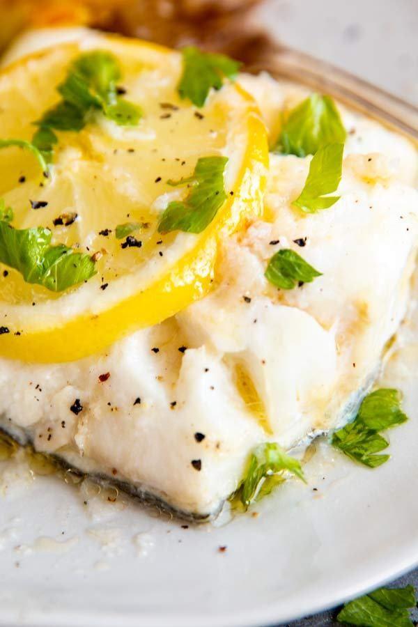 Garlic Butter Lemon Baked Cod Includes Video Instructions In 2020 Lemon Baked Cod Baked Cod Fish Recipes Baked