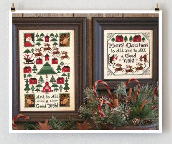 And To All a Good Night Book No. 167 : Prairie Schooler cross stitch patterns Christmas December hand embroidery by thecottageneedle