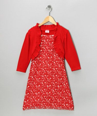 Take a look at this Red Polka Dot Ruffle Dress - Girls by Fall Forward: Girls' Apparel on #zulily today!