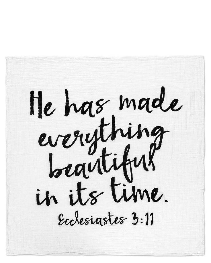 Ecclesiastes 3:11 Organic Blanket Swaddle