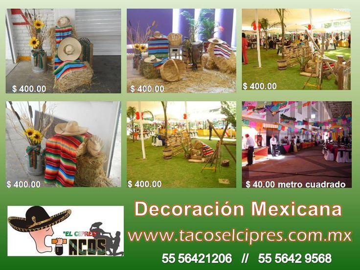 en www.tacoselcipres.com.mx no especializamos en llevar la Fiesta y la comida mexicana a tu eventos . quedamos de Uds.